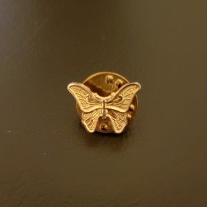 Vintage Gold-Tone Butterfly Pin